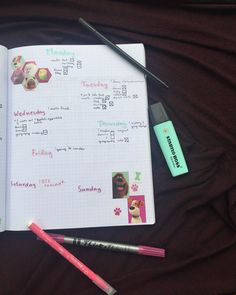 I got a sheet of Pets stickers as a gift, so I tought it would be a good idea to make a weekly spread with it. Weekly Spread, Bullet Journal, Good Things, Stickers, Pets, Gift, How To Make, Gifts, Animals And Pets