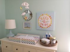 IKEA Hemnes changing table. Kite and cloud nursery