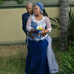 Mokopi & Leonard Dimpe's traditional wedding in Tswana attire