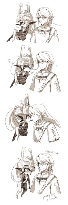Link x Midna Pocky Mipha And Link, Link And Midna, Link Zelda, Legend Of Zelda Midna, Legend Of Zelda Memes, Legend Of Zelda Breath, Power Rangers, Zelda Twilight Princess, Link Art