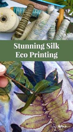 Stunning Silk Eco Printing 2019 Simple instructions to figure out the mysteries of Eco Printing on silk. Full explanation with detailed pictures. Make your own Silk Scarves! The post Stunning Silk Eco Printing 2019 appeared first on Scarves Diy. Fabric Painting, Fabric Art, Fabric Crafts, Thread Painting, Cork Crafts, Wooden Crafts, Bead Crafts, Fun Crafts, Fabric Design