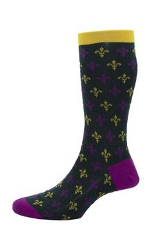 Seriously Silly Socks - Clarence design men's Fleur-de-lys socks by Pantherella in green. Made in England from Merino wool, £15.00 (http://www.seriouslysillysocks.com/clarence-design-mens-fleur-de-lys-socks-by-pantherella-in-green-made-in-england-from-merino-wool/)