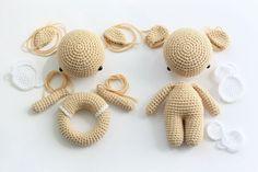 Amigurumi tragen und teddy rasselhäutige Häkelmuster