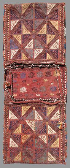Verneh Saddlebags, Turkey, 19th C.