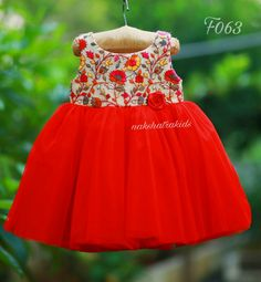 Kids Dress Wear, Kids Gown, Kids Wear, Kids Frocks Design, Baby Frocks Designs, Baby Girl Dress Patterns, Baby Clothes Patterns, Frocks For Girls, Dresses Kids Girl