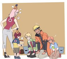 Uzumaki Boruto, Shikatema, Sasuhina, Narusaku, Sasunaru, Familia Uzumaki, Uzumaki Family, Naruto Couples, Naruto Fan Art