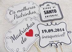 Kit de Plaquinhas - Frases de Casamento - 10 unid.