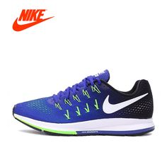 newest 11882 dcece Authentic New Arrival Official Nike Air Zoom Men s Breathable Blue Running  Shoes Sneakers