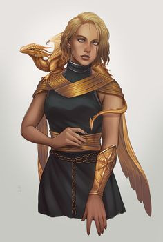 f Cleric Medium Armor Cloak Bracer Belt baby Gold Dragon Companion female human urban City Temple Seraphina by Rachel Denton Artstation lg Dungeons And Dragons Characters, D D Characters, Fantasy Characters, Fantasy Character Design, Character Creation, Character Art, Female Character Concept, Animation Character, Female Character Inspiration