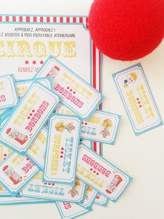 Ticket à imprimer pour une fête cirque Circus Birthday, Circus Party, 50th Birthday, Happy Birthday, Invitation Fete, Invitations, Party Fair, Carnival Themes, Vintage Circus
