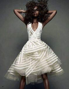 bridesmaid dress  origami white dress Donna Karan
