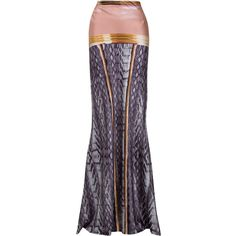 This skirt is very unique.. love the gold defined line.. could be used for like a Cleopatra outfit..