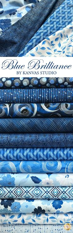 Blue Brilliance is a stunning pearlescent collection by Kanvas Studio from Benartex Fabrics available at Shabby Fabrics