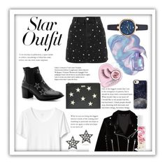 """""""Star outfit 🌌🌌"""" by annabalint16 on Polyvore featuring Boohoo, Casetify, The Kooples, STELLA McCARTNEY, Blossom, Topshop, JULIANNE, Kate Spade, stars and StarOutfits"""