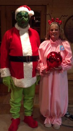 DIY grinch and Cindy Lou who couples halloween costumes!