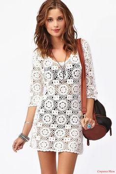 Вязаное крючком платье Mink Pink