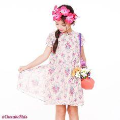 Chocake Kids Coleção Somos Flores  Meninas 2 a 10 anos  www.varaldetalentos.blogspot.com