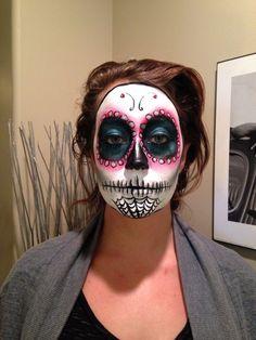 Sugar Skull By Louise Croce. Sugar Skull, Halloween Face Makeup, Artist, Sugar Skulls, Artists, Sugar Scull, Amen, Skull, Candy Skulls