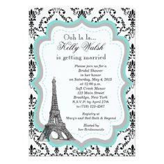 Eiffel tower Bridal Shower Invitations