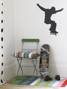 Skateboarder wall sticker. Brume.co.uk