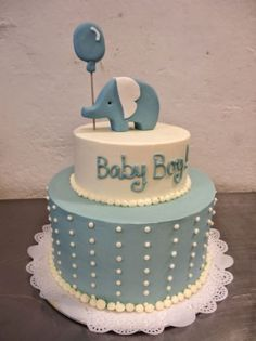 2 Tier Baby Shower Cake For Boy. 3 Tier Circus Theme Baby Shower Cake With Elephant On Top JPG. Torta Baby Shower, Baby Shower Sheet Cakes, Elephant Baby Shower Cake, Elephant Cakes, Baby Shower Cakes For Boys, Baby Boy Cakes, Baby Shower Desserts, Baby Boy Shower, Cute Baby Shower Ideas