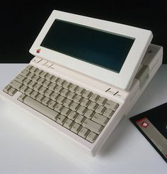An iteration of the Apple IIC, a hybrid desktop/laptop.