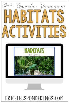 Your class will learn about habitats and adaptations with these fun hands on digital activities perfect for your life science class. Click the picture to learn more! Science Curriculum, Science Resources, Interactive Activities, Science Activities, Life Science, Opinion Writing Prompts, Sentence Writing, Vocabulary Sentences, Vocabulary Cards