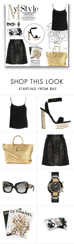 """""""Versace Tote"""" by ch-swisss ❤ liked on Polyvore featuring Versace, Assouline Publishing and Chanel"""