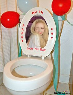 Toilet Fun Birthday Surprise For Friends With Name. Funny and unique Toilet Seat Birthday Gift Surprise For friends. If you can't go to his party, no problem just make fun by sending this funny surprise.