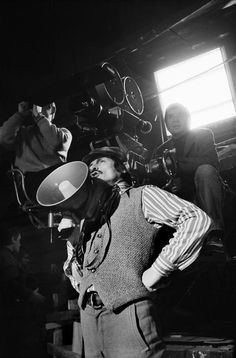 "USSR. Moscow. Russian film director Andreï Tarkovsky on the set of ""Stalker"".    Taken by Gueorgui Pinkhassov"