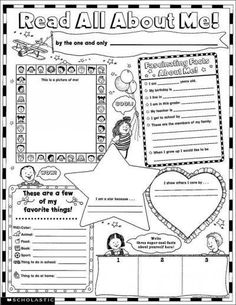Precision Series Instant Personal Poster Sets: Read All About Me! : 30 Big, Write-And-Read Learning Posters Ready for Kids to Personalize & Di...