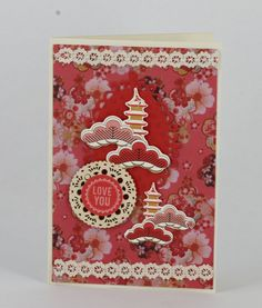 card by Cheryl using Kaisercraft hanami garden papers. www.craftqueen.com.au Asian Cards, Japanese Paper, Card Making Inspiration, Greeting Cards Handmade, Cheryl, Thank You Cards, Cardmaking, Lotus, Oriental