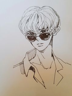 [170714] #fanart #Chanyeol #찬열 #EXO #엑소 Character Drawing, Character Illustration, Character Design, Kpop Drawings, Cartoon Drawings, Art Drawings, Kpop Fanart, Anime Boy Sketch, The Blue Boy