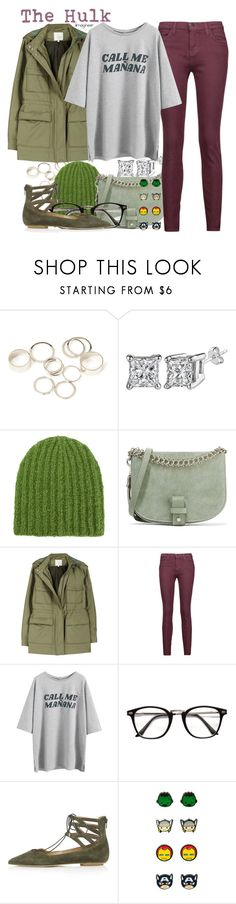 """""""The Hulk (Thor: Ragnarok)"""" by claucrasoda ❤ liked on Polyvore featuring Forever 21, Isabel Marant, Little Liffner, Joie, Current/Elliott, Topshop, Marvel and Hoodies"""