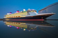 Disney Fantasy leaving shipyard in Germany -- Can't wait to sail on her in December, Disney Vacations, Vacation Destinations, Dream Vacations, Disney Fantasy Cruise, Disney Cruise Line, Shanghai Tower, Disney Images, Shore Excursions, Wonders Of The World