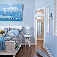 10 Beautiful Beach Cottages | Tranquil Bedroom | CoastalLiving.com