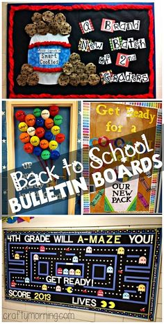 Clever back to school bulletin board ideas that show the different students in the classroom! Back To School Bulletin Boards, Classroom Bulletin Boards, Classroom Displays, School Classroom, School Fun, Classroom Organization, Library Displays, Clever School, Book Displays