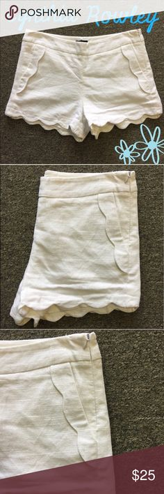 """Cynthia Rowley Scalloped Shorts 