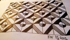 Tekenpraktijk De Innerlijke Wereld: New tanglepattern: Squarcles