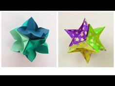 Leyla's Torres' video on how to make IvaMia Kusudama, a 6 piece modular unit