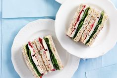 Turkey, brie and cranberry. Whip up these delicious high tea sandwiches in super fast time to create an elegant afternoon tea.
