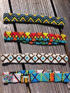 Stretch Aztec Indian Seed Bead Headband-Stretch, Aztec, Indian, Seed ,Bead ,Headband Beaded Headbands, Diy Headband, Beaded Bracelets, Necklaces, Head Jewelry, Seed Bead Jewelry, Seed Beads, Indian Accessories, Diy Accessories