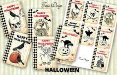 Digital Collage Sheet  Happi Halloween scrapbooking by TaniaDesign