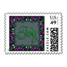 Green Joy in Festive Holiday Frame Stamps