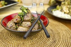 Black Pepper and Broccolini Beef