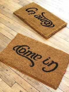 Reversible Doormat // Come In/Go Away ♥