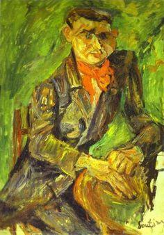 soutine paintings   Chaïm Soutine, Portrait of Moise Kisling , c. 1919-1920 (Philadelphia ...