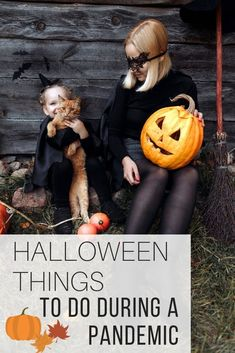 Halloween things to do with your family and enjoy during a pandemic from The Wardrobe Stylist. Halloween things to do with kids and friends that are contactless and safe. #TrickorTreat #Halloween #Fall