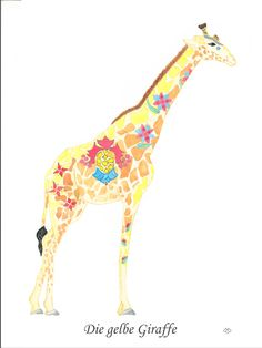 Die gelbe Giraffe / The yellow giraffe CHF 80,00 28 x 35 cm (18 x 24 cm without passepartout)