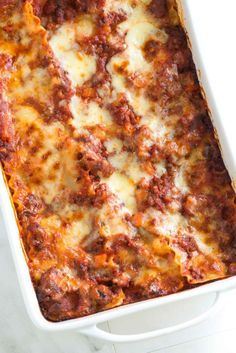 A meaty lasagna recipe with Italian sausage, ground beef, and cheese. Plus, our tips for making it in advance.